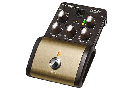LR Baggs Session DI Acoustic Guitar Preamp Pedal with Case SESSION-DI