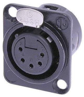 Neutrik NC5FD-L-BAG-1  DL Series 5-Pin XLR-F Panel Connector with Solder Cups NC5FD-L-BAG-1