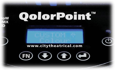 City Theatrical QolorPoint 7010 6x Model 7000 Lights with Case 7010-CTH