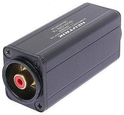 Neutrik NA2M-D2B-TX  1:1 Miniature XLR-RCA Transformer Balancing Adapter NA2M-D2B-TX