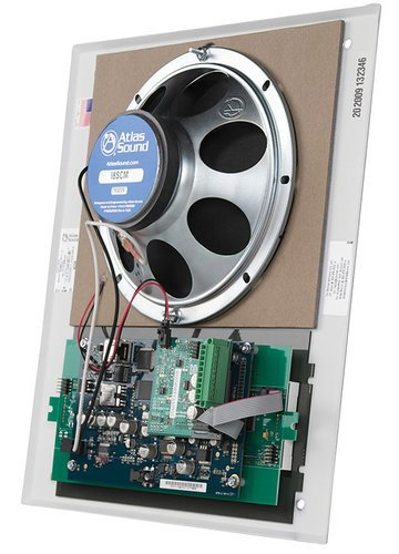 Atlas Sound I8SCM  Wall Mount IP Speaker with Clock and Microphone I8SCM