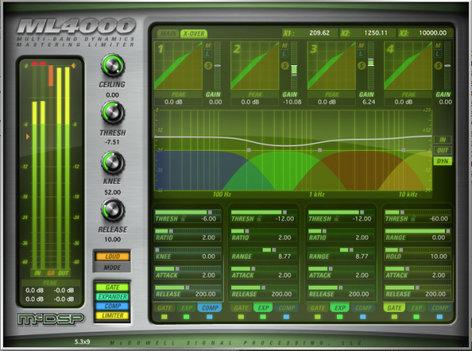 McDSP ML4000 HD v6 High-Resolution Limiter and Multi-Band Dynamics Plug-in, AAX DSP/Native, AU, VST Version ML4000-HD-V6
