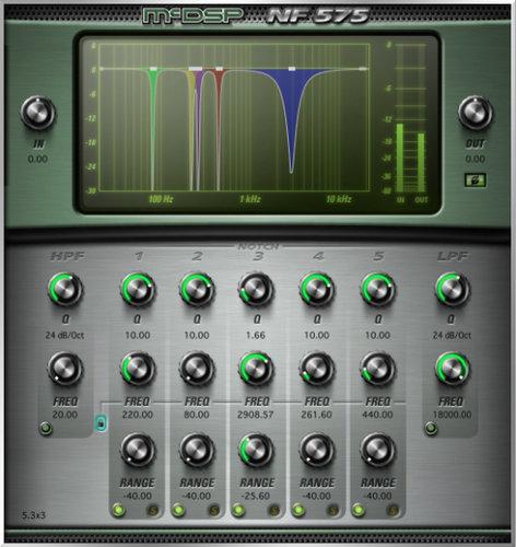 McDSP NF575 Native v6 Multi-Band Noise Filter Plug-in, AAX DSP/Native, AU, VST Version NF575-NATIVE