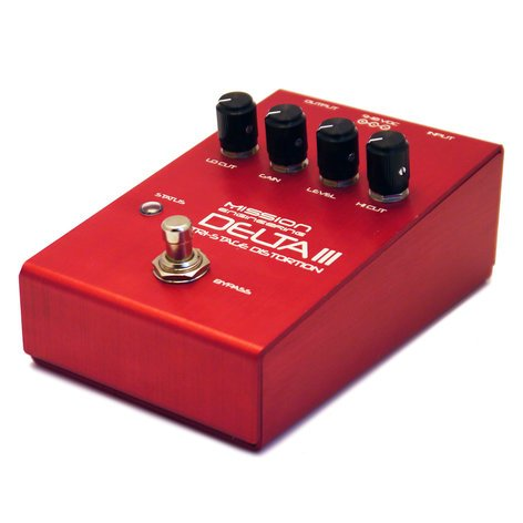 Mission Engineering Inc Delta III Tri-Stage All-Analog Distortion Pedal with Digital Bypass DELTA-III