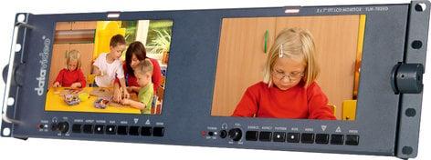 "Datavideo Corporation TLM-702HD Dual 7"" Screen LCD Monitor Rack Unit with HD-SDI Inputs TLM702-HD"