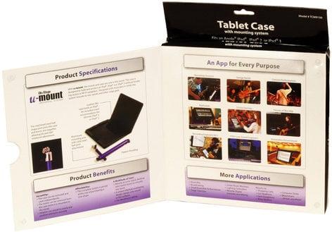 On-Stage Stands TCM9150  u-mount iPad Mounting System / Folio Case TCM9150