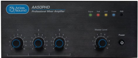 Atlas Sound AA50PHD  3-Input, 50W Mixer Amplifier with Automatic System Test (PHD) AA50PHD