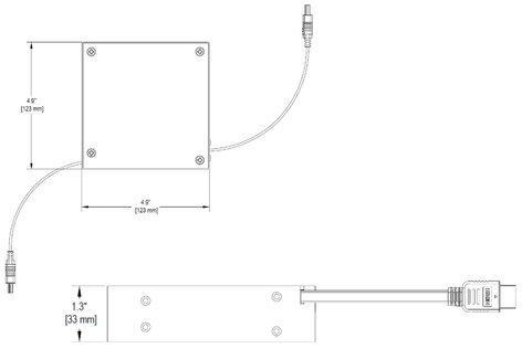 Altinex MINI-ME RT300-125 HDMI Male-to-Male Retractable Cable RT300-125