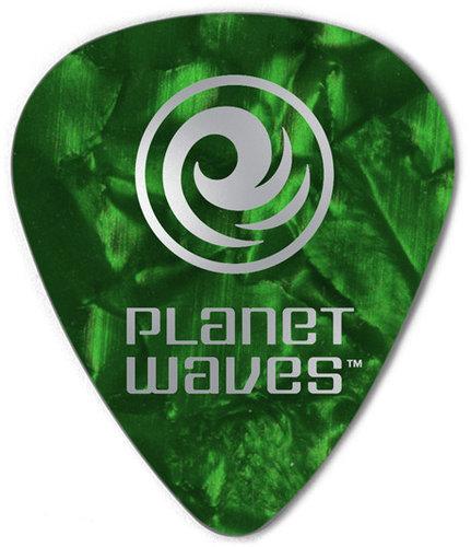 Planet Waves 1CAP4-10 10-Pack of Pearl Celluloid 70mm Medium Gauge Standard Shape Picks 1CAP4-10