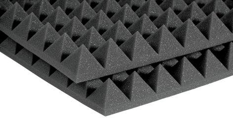 "Auralex 4PYR22BUR 2'x2'x4"" StudioFoam Pyramids in Burgundy (Charcoal Shown) 4PYR22BUR"