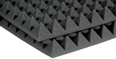 "Auralex 2PYR24CHA 12-Pack of 2'x4'x2"" StudioFoam Pyramids Acoustic Panels in Charcoal 2PYR24CHA"