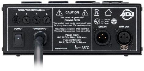 ADJ DP-DMX20L 4-Channel Portable DMX Dimmer / Switch Pack DP-DMX20L