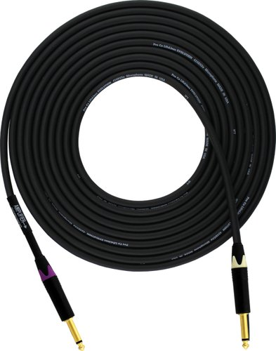 """Pro Co EVLLCN-15 Evolution Series 15 ft Directional Instrument Cable with Straight 1/4"""" Connectors EVLLCN-15"""