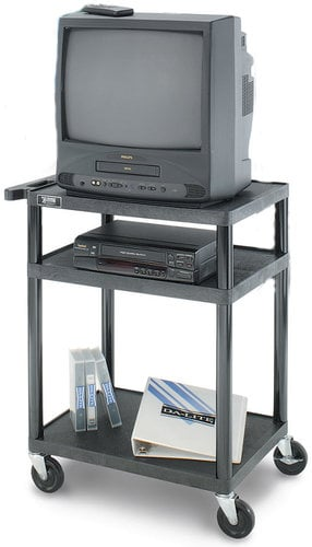 "Da-Lite PL9-54R PIXMate PL Series Cart with 24""x32"" Top Shelf with 3-Outlet Electrical Assembly 4703E"