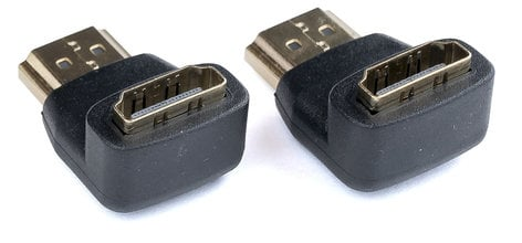 Video Devices PIX-HDMI-R  2x HDMI Male (Right Angle)  to HDMI Female Adapter PIX-HDMI-R