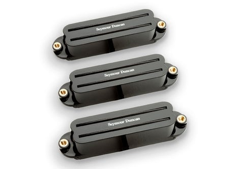Seymour Duncan Hot Rails High-Output Humbucking Pickups for Stratocaster in Black, Set of 3 11208-02-B