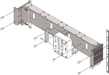 QSC DPX4  Remote Rack Mounting Bracket for DSP-3 & DSP-4 DPX4