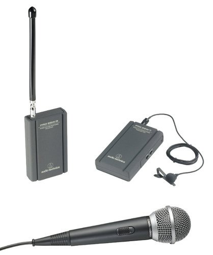 Audio-Technica ATR288W Wireless System, VHF, Lavalier & Handheld Mics, Battery-Powered Receiver and Transmitter ATR288W