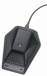 Audio-Technica U851cW Cardioid Condenser Boundary Microphone with 4-Pin Locking Connector for Wireless Transmitters U851CW