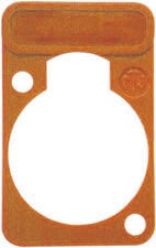 Neutrik DSS-O Lettering Plate for D-Connectors (Orange) DSS-O