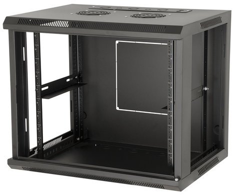 "Gator Cases Rackworks GRW1009508 9RU 17"" Deep Fixed Wall Mount Rack with Steel Door GRW1009508"