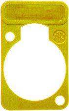 Neutrik DSS-Y Lettering Plate for D-Connectors (Yellow) DSS-Y