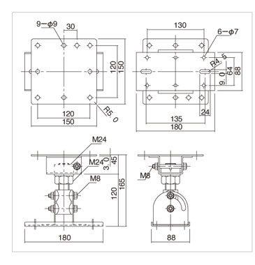 Yamaha BCS251 Ceiling Bracket BCS251-CA