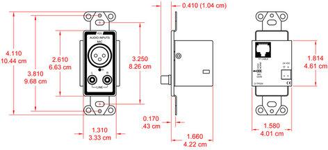 Radio Design Labs D-TPS3A Active Three-Pair Sender D-TPS3A