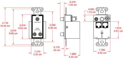 Radio Design Labs D-TPP6A  Format-A D-TPS6A with Video Pass-Through D-TPP6A