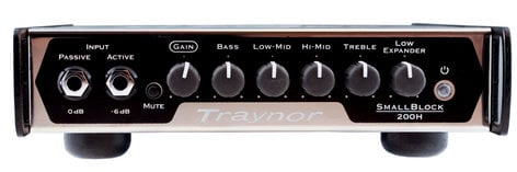 Traynor SB200H Small Block Series 200W Bass Amplifier Head SB200H