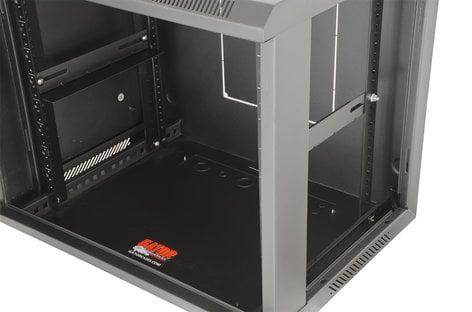 """Gator Cases Rackworks GRW1009509 9RU 17""""D Fixed Wall Rack with Vented Glass Door GRW1009509"""