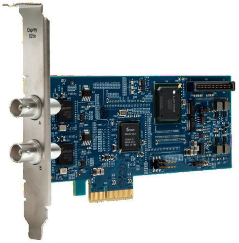 Osprey Video 825e Two Input SDI or DVB-ASI Video Capture Card with SimulStream 95-00479