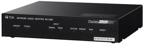 TOA NX-100SPS US Network Audio Adapter w/Power Supply NX100SPSUS