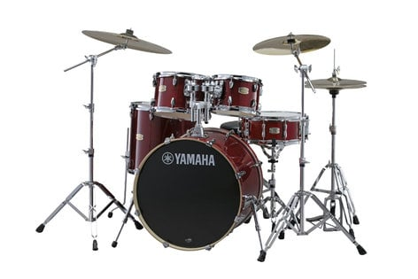Yamaha SCH2HP587-CR Stage Custom Hybrid Electronic / Acoustic Kit in Cranberry Red SCH2HP587-CR