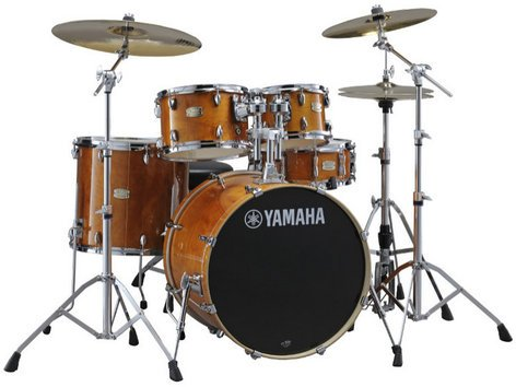 Yamaha SCH2HP587-HA Stage Custom Hybrid Electronic / Acoustic Kit in Honey Amber SCH2HP587-HA