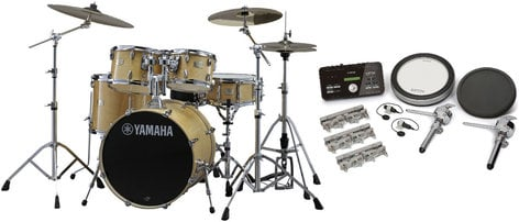 Yamaha SCH2HP587-NW Stage Custom Hybrid Electronic / Acoustic Kit in Natural Wood SCH2HP587-NW