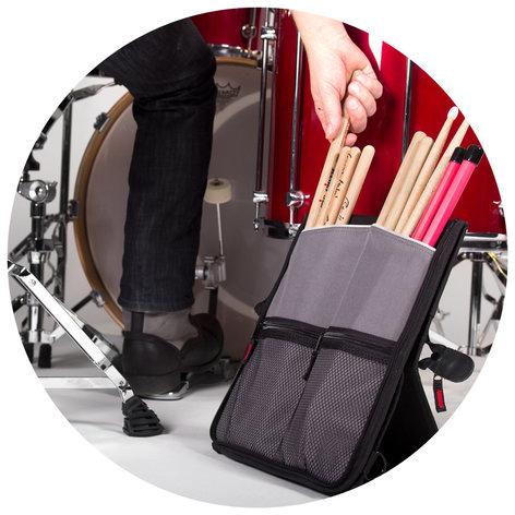 Sabian Stick Flip Drumstick Bag in Black and Red SSF12