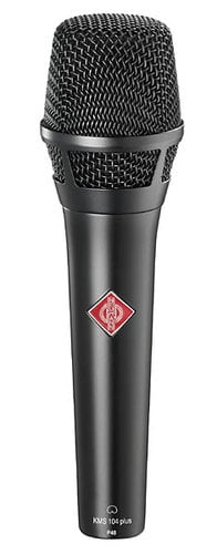 Neumann KMS104+ plus Extended Frequency Cardioid Handheld Condenser Microphone in Matte Black Finish KMS104+