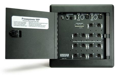 Whirlwind PressPower WP (Press Wall) Active Press Box, Wall Mount PRESSWALL