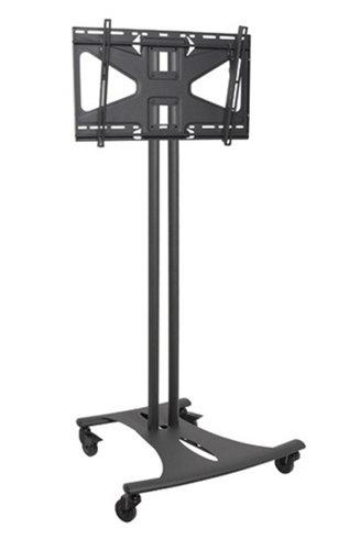 "Premier Mounts EBC72B-MS2  Mobile Cart with 72"" Dual Poles and Tilting Mount for Flat-Panels EBC72B-MS2"
