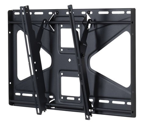 "Premier Mounts EBC72B-MS2  Mobile Cart with 72"" Dual Poles and Tilting Mount for Flat-Panels EBC72B-MS2"