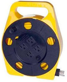 TecNec ECR-2 Retractable 25 ft Extension Cord Reel with 4 Outlets on Side ER-2