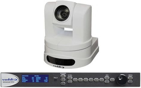 Vaddio ClearVIEW HD20SE QCCU System HD PTZ Camera in Black or White with Quick Connect CCU CLEARVIEW-HD20SEQCCU