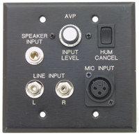Pro Co AVP1V-BLK Wall Plate, A/V Interface with Volume Control, Black AVP-1VBLK