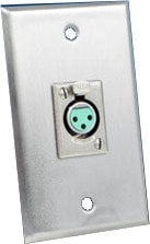 Switchcraft WP1S1P 1 Gang 1 E/EH Connector Hole Wallplate in Stainless Steel WP1S1P
