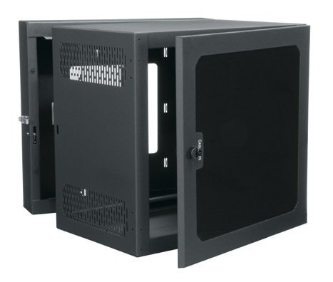 "Middle Atlantic Products CWR-12-26PD 12RU 26"" Deep Data Wall Cab with Plexi Front Door CWR-12-26PD"