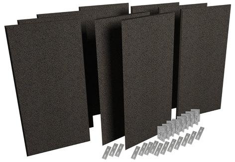 Auralex PPK1-OBS ProPanel ProKit-1 Acoustic Panel Room Treatment System in Obsidian PPK1-OBS