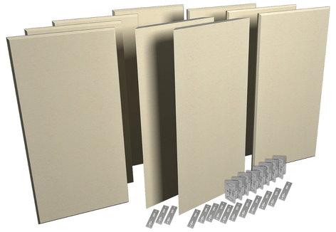 Auralex ProPanel ProKit-1 Acoustic Panel Room Treatment System in Sandstone PPK1-SST