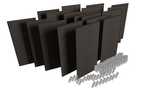 Auralex ProPanel ProKit-2 Acoustic Panel Room Treatment System in Obsidian PPK2-OBS