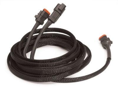 "TecNec PTN1.00 Techflex 5/8"" to 1-5/8"" Flexo Pet Tubing, 250 ft Spool, Black PTN1-BLK"
